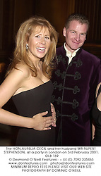 The HON.AURELIA CECIL and her husband MR RUPERT STEPHENSON, at a party in London on 3rd February 2001.	OLB 159