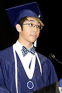 Joselito Buendia delivers the welcoming remarks during the Fairborn High School commencement at the Nutter Center in Fairborn, Friday, May 27, 2010.