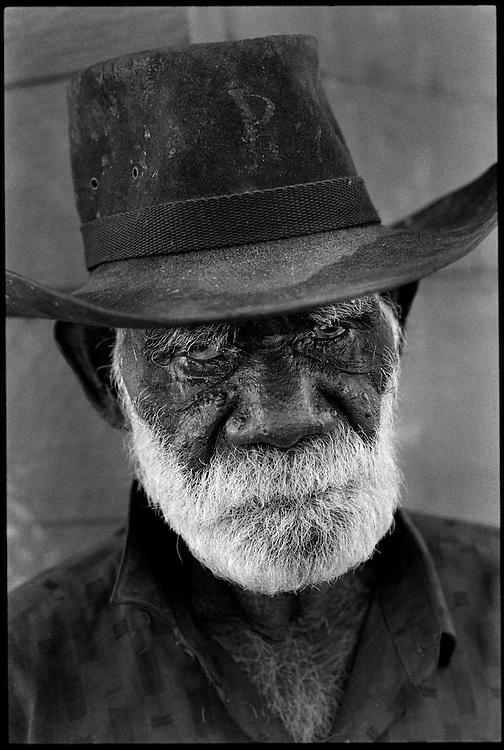 Robert Rallah - an elder of the Yaramun Community. The Kimberley area of Western Australia 1992