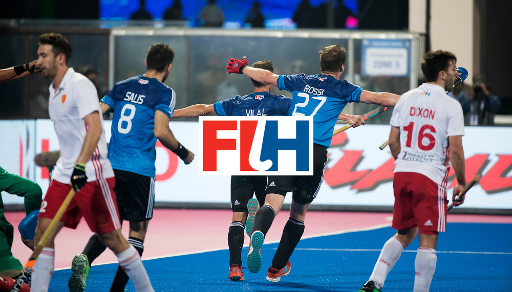 Odisha Men's Hockey World League Final Bhubaneswar 2017<br /> Match id:14<br /> England v Argentina , Quater Final<br /> Foto:  Lucas Vila (Arg) celebrate a goal.<br /> WSP COPYRIGHT KOEN SUYK