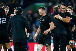New Zealand Fly-Half Daniel Carter celebrates after New Zealand win the match 34-17 to become 2015 World Cup Champions - Mandatory byline: Rogan Thomson/JMP - 07966 386802 - 31/10/2015 - RUGBY UNION - Twickenham Stadium - London, England - New Zealand v Australia - Rugby World Cup 2015 FINAL.