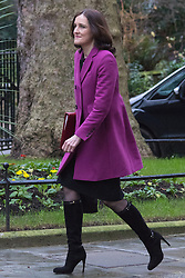 Downing Street, London, February 2nd 2016. Northern Ireland Secretary Theresa Villiers arrives at No 10 prior to attending the weekly Cabinet meeting. ///FOR LICENCING CONTACT: paul@pauldaveycreative.co.uk TEL:+44 (0) 7966 016 296 or +44 (0) 20 8969 6875. ©2015 Paul R Davey. All rights reserved.