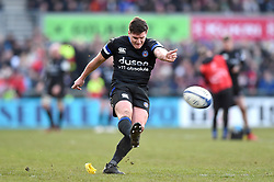 Freddie Burns of Bath Rugby kicks for the posts - Mandatory byline: Patrick Khachfe/JMP - 07966 386802 - 18/01/2020 - RUGBY UNION - Kingspan Stadium - Belfast, Northern Ireland - Ulster Rugby v Bath Rugby - Heineken Champions Cup