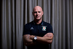 CARDIFF, WALES - Thursday, September 28, 2017: Wales' Under-21 manager Robert Page poses for a portrait after a press conference at the Vale Resort to announce his squad for the forthcoming UEFA Under-21 Championship qualifying Group 8 game against Liechtenstein. (Pic by David Rawcliffe/Propaganda)