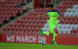 SOUTHAMPTON, ENGLAND - Monday, April 10, 2017: Liverpool's Rhian Brewster in action against Southampton during FA Premier League 2 Division 1 Under-23 match at St.Mary's Stadium. (Pic by David Rawcliffe/Propaganda)
