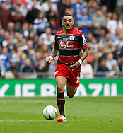 Danny Simpson of Queens Park Rangers during the Sky Bet Championship Play Off final at Wembley Stadium, London<br /> Picture by Andrew Tobin/Focus Images Ltd +44 7710 761829<br /> 24/05/2014