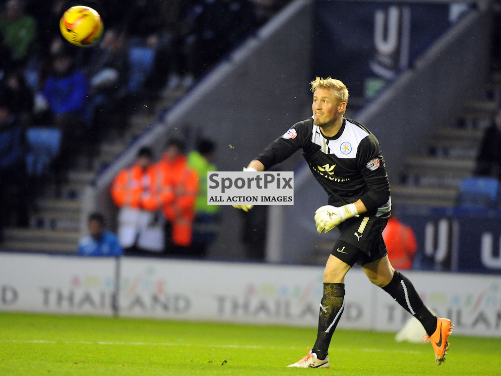 Jasper Schmeichel Goalkeeper Leicester City, Leicester City v Watford, Sky Bet Championship, Saturday 8th Febuary 2014