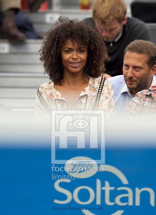 British model Susan Gossage girlfriend of Jeremy Chardy (France) on day four of the Aegon Championships 2017 held at The Queen's Club, Kensington, UK.<br /> Picture by Alan Stanford/Focus Images Ltd +44 7915 056117<br /> 22/06/2017