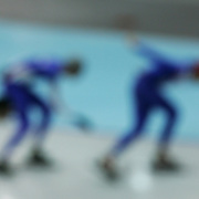 Abstract Impressions of Sport.Long track Speed skating, Winter Olympics,