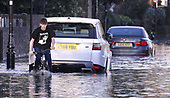 The Thames floods Chiswick Mall London
