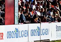 Fotball , 11. september 2016 , 1. divisjon , Obos <br /> Strømmen - Mjøndalen 0-0<br /> <br /> illustrasjon Obosligaen , publikum , skilt , fan , fans