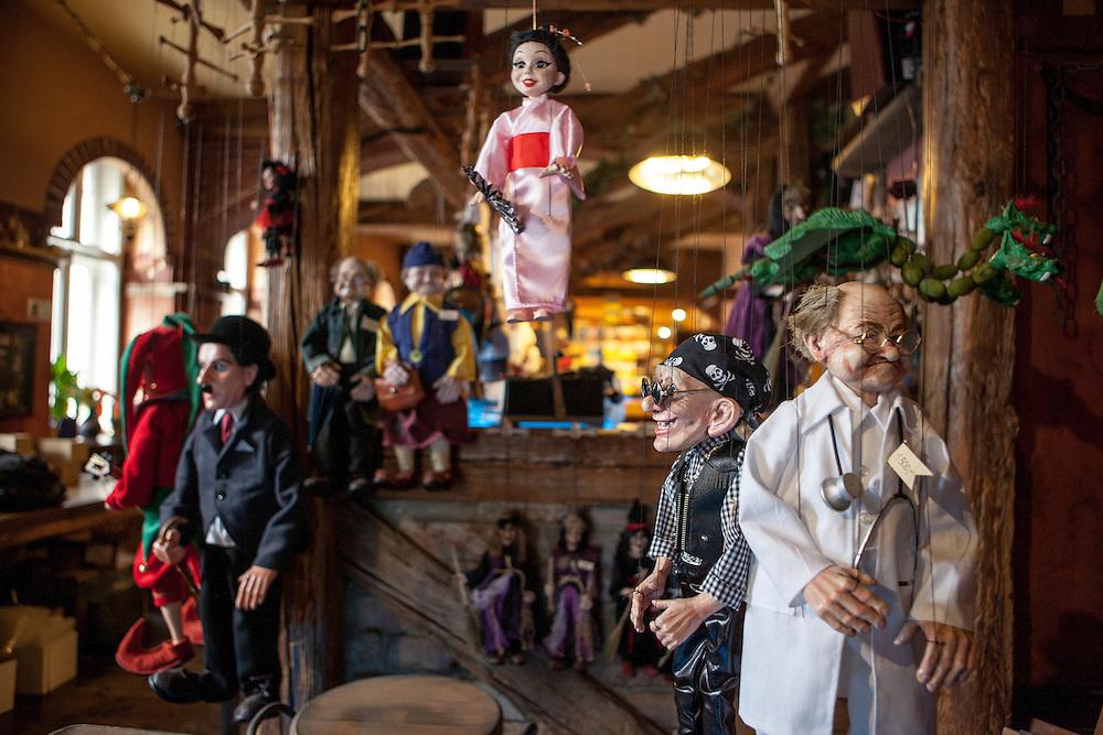 Die Marionettenmanufaktur in der Vratislavova.