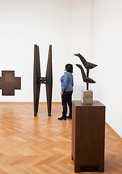 Sculptures by Carel Visser at the Gemeentemuseum in The Hague, Den Haag,  Netherlands
