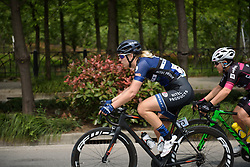 Ilona Hoeksma sets the pace at Tour of Chongming Island - Stage 2. A 135.4km road race from Changxing Island to Chongming Island, China on 6th May 2017.