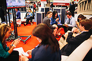 "Republican students from Cornell University take a break in a lounge area of the HUB during day two of the Conservative Political Action Conference (CPAC) at the Gaylord National Resort & Convention Center in National Harbor, Md. ""The unemployment rate for recent grads is very high,"" said Jessica Reif, 22, in blue blazer in the center, who explained that young conservatives tend to be characterized by fiscal conservatism. ""We are worried about our job prospects after graduation."""