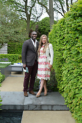 SOL CAMPBELL and his wife FIONA BARRATT at the 2015 RHS Chelsea Flower Show at the Royal Hospital Chelsea, London on 18th May 2015.
