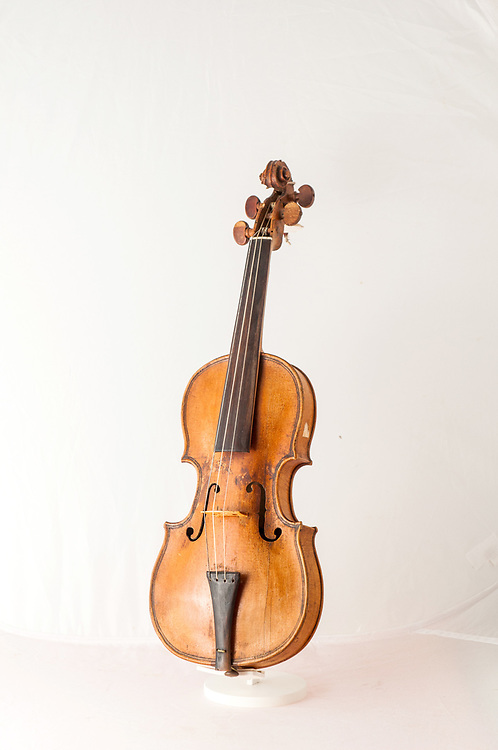 An original violin of Andrea Guarnieri, dated 1654, is seen at the museum ViVe, Vivaldi Venice, at Chiesa della Pietà on July 12, 2017 in Venice, Italy. Chiesa della Pietà has just opened to the public the restored fresco of Tiepolo with the original colors and a museum with original documents of the institution clled La Pietà that in the past hosted abandoned children, and also with original musical instruments used by Vivaldi to teach to the children. ©Simone Padovani
