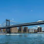 Manhattan Bridge, view from Main Street Park, Brooklyn NYC. Photo by Alabastro Photography.