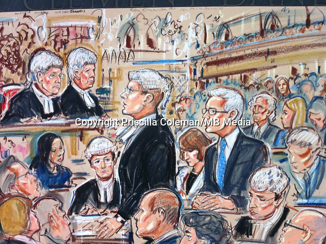 Julian Assange contests extradition back to Sweden on charges of rape, Royal Courts of Justice, The Strand