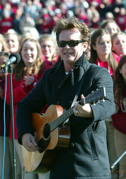 28 October 2006:Indiana own John Mellencamp entertained the crowd before the Indiana Hoosiers beat the the Michigan State Spartans 46-21 in college football in Bloomington, Ind.