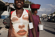 Port-au-Prince, HAITI, 22/03/2011: One year after the massive earthquake hit Haiti's capital, people try to recover their quotidian life, in the middle of a destructed city. (photo: Caio Guatelli)