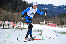 KANAFIN Kairat Guide: KOLOMEYETS Dmitriy, KAZ at the 2014 IPC Nordic Skiing World Cup Finals - Middle Distance