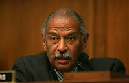 "Full Committee Chairman John Conyers Jr. D-MI makes a statement before Senior White House advisor Roy Bloom testifies before the House of Representatives  Judiciary Committee's Subcommittee on Commercial and Administrative Law on ""Ramifications of Auto Industry Bankruptcies"" on  July 21, 2009.  Photograph: Dennis Brack"