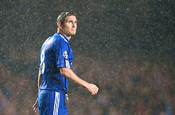 LONDON, ENGLAND - TUESDAY, SEPTEMBER 15th, 2009: Chelsea's Frank Lampard in the pouring rain during the UEFA Champions League Group D match at Stamford Bridge. (Photo by Chris Brunskill/Propaganda)