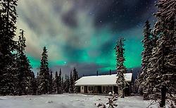 THEMENBILD - die Aurora Borealis oder Nordlichter erhellen den Nachthimmel über den Valtavaara Nationalpark in der Nähe von Kuusamo, Finnland, aufgenommen am 28. November 2016, Kuusamo, Finnland // The Aurora Borealis or Northern Lights illuminate the night sky over Valtavaara Nationalpark near Kuusamo, Finland on 2016/11/28. EXPA Pictures © 2016, PhotoCredit: EXPA/ JFK