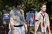 Around 300 local residents of Stoke Newington took part in a Zombie demonstration against a proposed Sainsbury development in the heart of Stoke Newington. The development will overlook one of the oldest cemeteries in London. The protesters marched through the centre of Stoke Newington giving a clear message to the developers that a new store is not wanted. Stokey Local, the organisers of the protest believe it will have a huge negative impact on the infrastructure and jobs in the area.