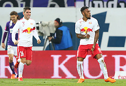 07.11.2015, Generali Arena, Wien, AUT, 1. FBL, FK Austria Wien vs FC Red Bull Salzburg, 15. Runde, im Bild Torjubel Jonatan Soriano Casas (FC Red Bull Salzburg) und Jonathan Doin (FC Red Bull Salzburg) // during Austrian Football Bundesliga Match, 15th Round, between FK Austria Vienna and FC Red Bull Salzburg at the Generali Arena, Vienna, Austria on 2015/11/07. EXPA Pictures © 2015, PhotoCredit: EXPA/ Thomas Haumer
