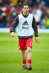 BIRMINGHAM, ENGLAND - Sunday, April 4, 2010: Liverpool's Maximiliano Ruben Maxi Rodriguez warms-up before the Premiership match against Birmingham City at St Andrews. (Photo by David Rawcliffe/Propaganda)