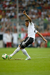 06.09.2013, Allianz Arena, Muenchen, GER, FIFA WM Qualifikation, Deutschland vs Oesterreich, Rueckspiel, im Bild Jerome Boateng (GER) am Ball Freisteller, Einzelbild, Aktion, , , Qualifikation Weltmeisterschaft Brasilien 2014 Rueckspiel , Saison 2013 2014 Muenchen Allianz-Arena, 06.09.2013 // during the FIFA World Cup Qualifier second leg Match between Germany and Austria at the Allianz Arena, Munich, Germany on 2013/09/06. EXPA Pictures © 2013, PhotoCredit: EXPA/ Eibner/ Michael Weber<br /> <br /> ***** ATTENTION - OUT OF GER *****