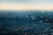Nederland, Utrecht, Utrecht, 07-02-2018;<br /> Binnenstad van Utrecht met skyline vanuit het Oosten.<br /> Downtown Utrecht with skyline from the East.<br /> luchtfoto (toeslag op standard tarieven);<br /> aerial photo (additional fee required);<br /> copyright foto/photo Siebe Swart