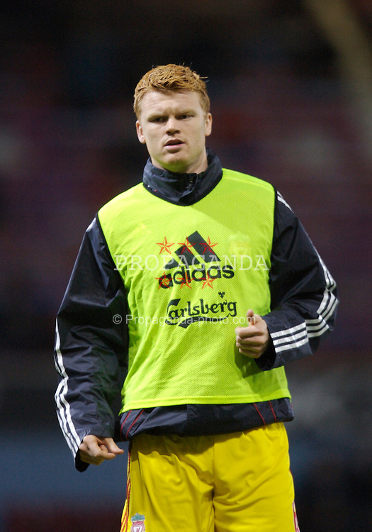 London, England - Tuesday, January 30, 2007: Liverpool's John Arne Riise warms-up before the Premiership match against West Ham United at Upton Park. (Pic by David Rawcliffe/Propaganda)