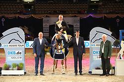 Will David, (GER), Mic Mac Du Tillard<br /> DKB-Riders Tour<br /> Grand Prix Kreditbank Jumping München 2015<br /> © Hippo Foto - Stefan Lafrentz