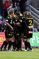 01.05.2010, Tapiolan Urheilupuisto, Espoo..Veikkausliiga 2010, FC Honka - IFK Mariehamn..Honka juhlii maalia.©Juha Tamminen.
