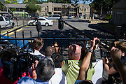 City of Dallas spokeswoman Sana Syed speaks with the media outside the Ivy Apartments where Thomas E. Duncan, the first confirmed Ebola virus patient in the United States, was staying with family in Dallas, Texas on October 3, 2014.