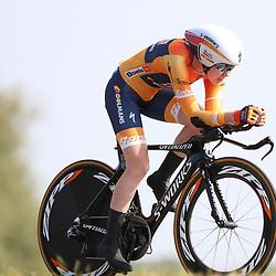 29-08-2017: Wielrennen: Boels Ladies Tour: Wageningen   <br /> Anna van der Breggen verliest 10 seconden