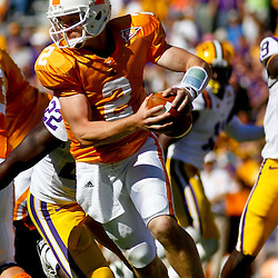 Oct 2, 2010; Baton Rouge, LA, USA; Tennessee Volunteers quarterback Matt Simms (2) against the LSU Tigers during the second half at Tiger Stadium. LSU defeated Tennessee 16-14.  Mandatory Credit: Derick E. Hingle