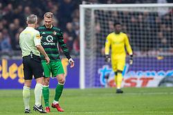 21-01-2018 NED: AFC Ajax - Feyenoord, Amsterdam<br /> Ajax was met 2-0 te sterk voor Feyenoord / Scheidsrechter Bjorn Kuipers, Nicolai Jorgensen #9 of Feyenoord