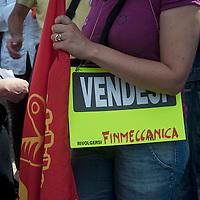 Protesta Lavoratori Finmeccanica