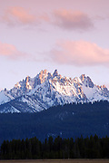 Sawtooth Mountains- Mt. Williams in the Sawtooth National Recreation Area at Sunrise.