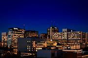 DEN HAAG -  Skyline van het Beatrixkwartier Den Haag bij ondergaande zon<br /> COPYRIGHT RONALD SPEIJER