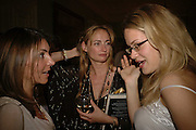 Vassi Chamberlain, Clementine Hambro and Camilla Long. Book launch of 'A Much Married Man' by Nicholas Coleridge. English Speaking Union. London. 4 May 2006. ONE TIME USE ONLY - DO NOT ARCHIVE  © Copyright Photograph by Dafydd Jones 66 Stockwell Park Rd. London SW9 0DA Tel 020 7733 0108 www.dafjones.com