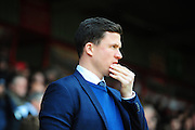 Gary Caldwell, manager of Wigan during the Sky Bet League 1 match between Walsall and Wigan Athletic at the Banks's Stadium, Walsall, England on 20 February 2016. Photo by Mike Sheridan.