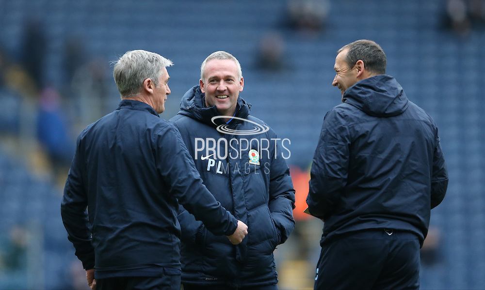 Blackburn Rovers manager, Paul Lambert during the Sky Bet Championship match between Blackburn Rovers and Brighton and Hove Albion at Ewood Park, Blackburn, England on 16 January 2016.