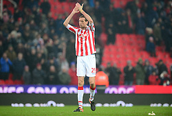 Peter Crouch of Stoke City claps the fans. - Mandatory by-line: Alex James/JMP - 11/02/2017 - FOOTBALL - Bet365 Stadium - Stoke-on-Trent, England - Stoke City v Crystal Palace - Premier League