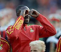 FUSSBALL INTERNATIONAL TESTSPIEL in Rotterdam Holland - Ghana          31.05.2014 Albert ADOMAH (Ghana) haelt Ausschau
