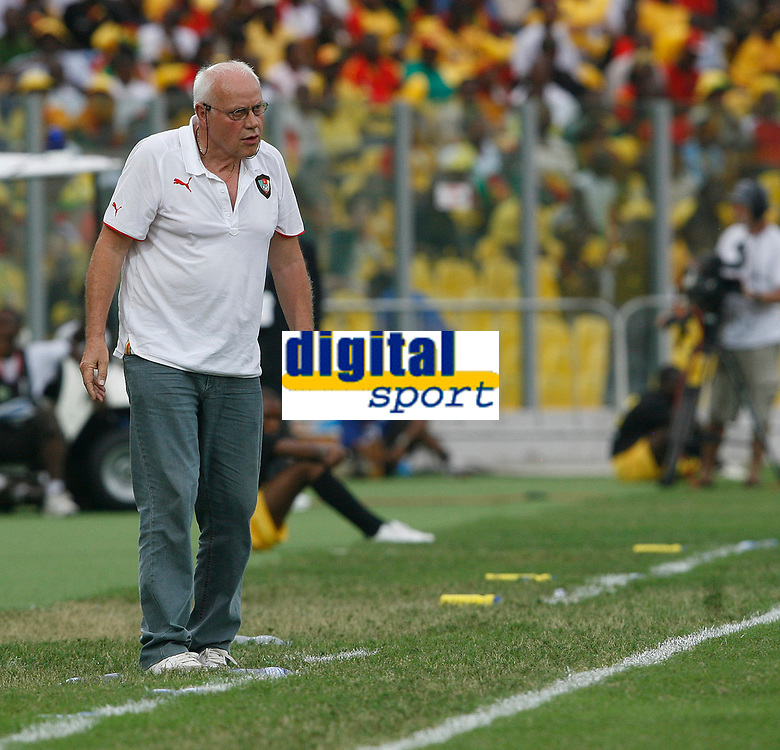 Photo: Steve Bond/Richard Lane Photography.<br />Ghana v Cameroon. Africa Cup of Nations. 07/02/2008. Otto Pfister prowls the touchline